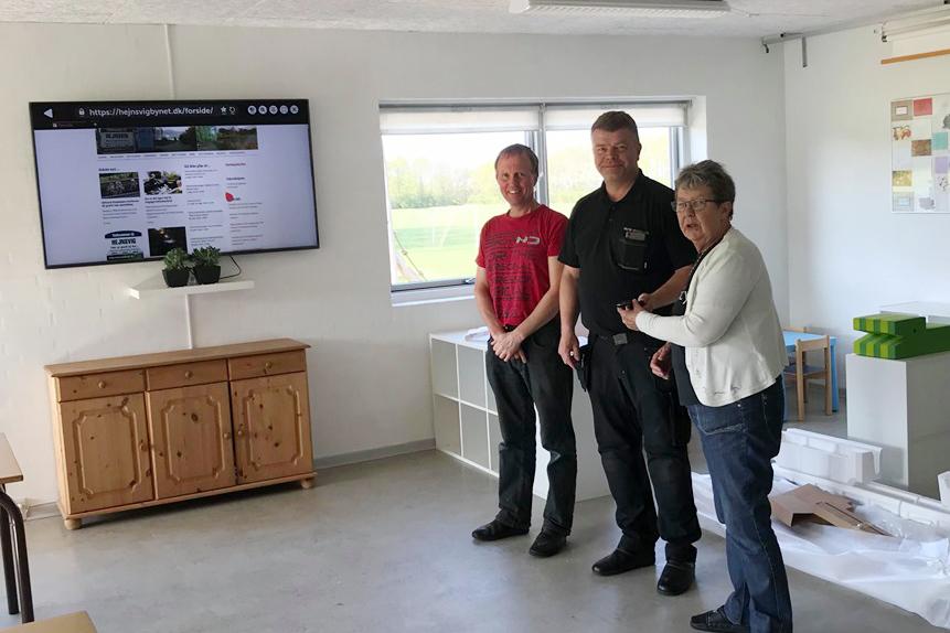 a90e35d1dda9 Markedsudvalget forærer Hejnsvig en kæmpe TV-skærm
